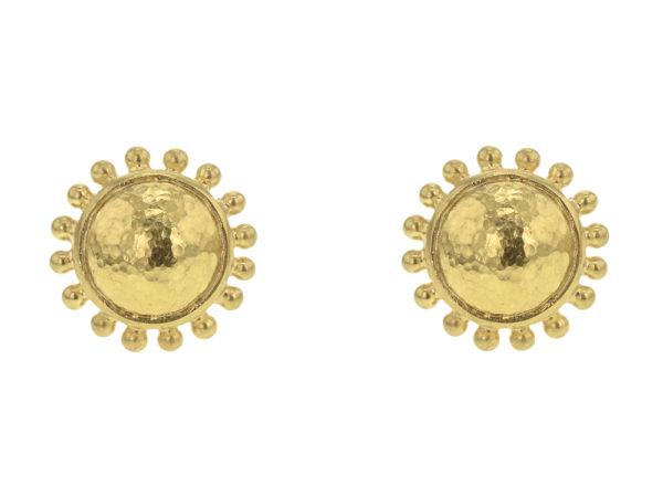 Elizabeth Locke Gold Dome Stud Earrings With Granulation thumbnail