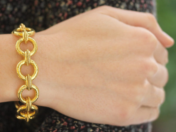 "Elizabeth Locke ""Ravenna"" Link Bracelet With Hidden Closure Clasp"