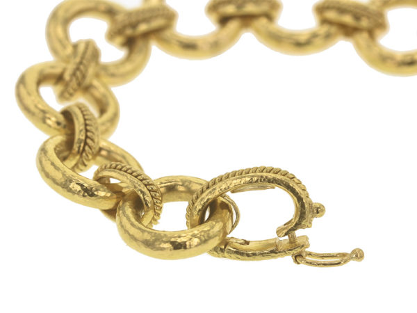 "Elizabeth Locke ""Ravenna"" Link Bracelet With Hidden Closure Clasp model shot #3"