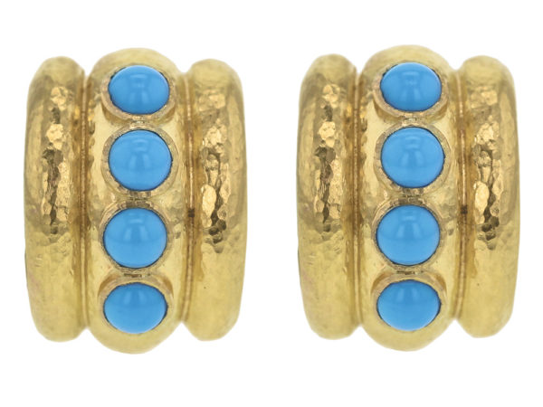 "Elizabeth Locke Turquoise ""Amalfi"" Earrings thumbnail"