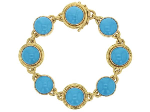 Elizabeth Locke Sleeping Beauty Turquoise Link Bracelet thumbnail