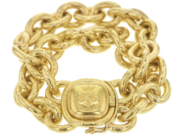 "Elizabeth Locke ""Queen Bee"" Double Heavy Oval Link Bracelet thumbnail"