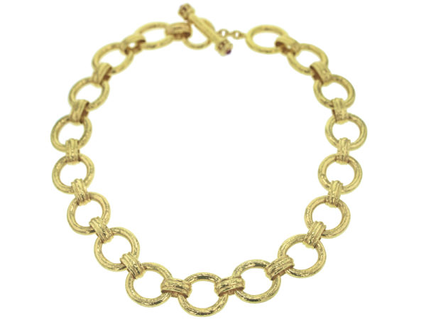 "Elizabeth Locke 17"" ""Pisa"" Link Necklace with Toggle and Ring Closure model shot #2"