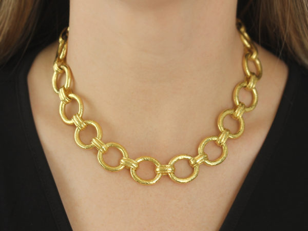 """Elizabeth Locke 17"""" """"Pisa"""" Link Necklace with Toggle and Ring Closure"""