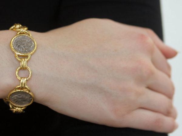 Elizabeth Locke Ancient Roman Silver Coins Link Bracelet