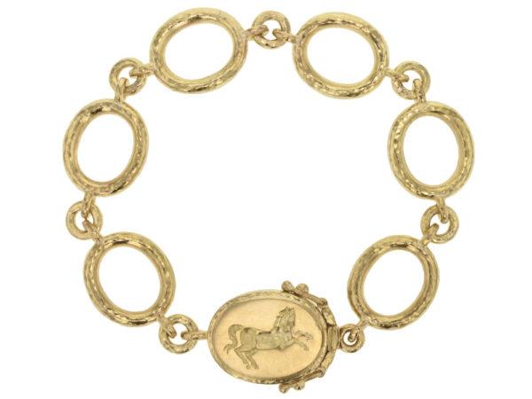 "Elizabeth Locke ""Sorano"" Link Bracelet with ""Rearing Horse"" Clasp thumbnail"