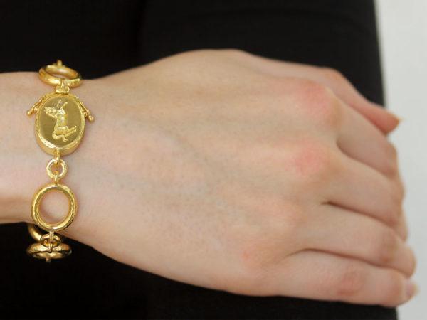 "Elizabeth Locke ""Sorano"" Link Bracelet with ""Rearing Horse"" Clasp"