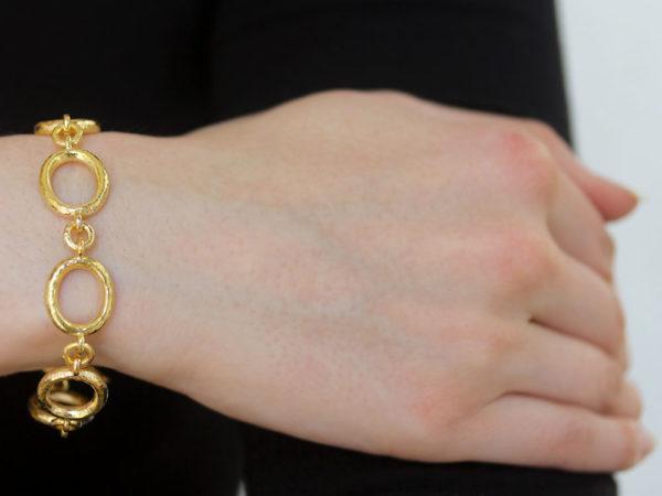 "Elizabeth Locke ""Sorano"" Link Bracelet with ""Rearing Horse"" Clasp model shot #2"