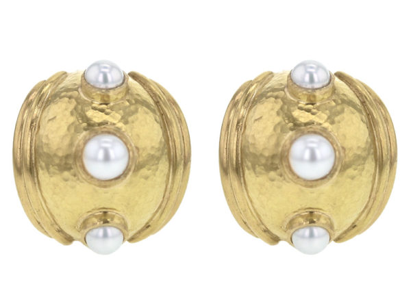 Elizabeth Locke Small Freshwater Pearl Puff Earrings thumbnail