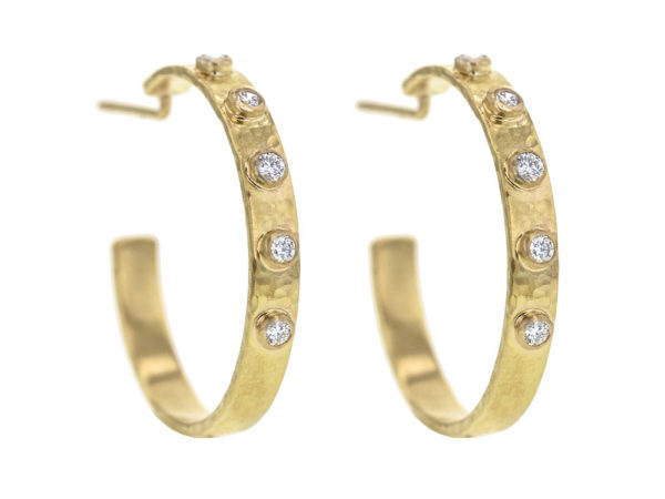 Elizabeth Locke Diamond Ribbon Hoop Earrings thumbnail