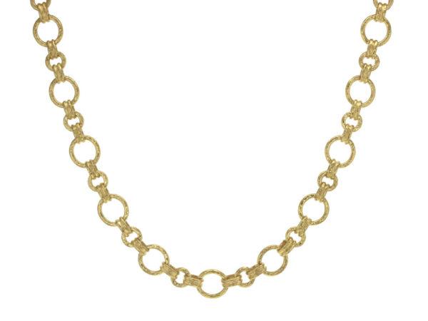 "Elizabeth Locke 17"" ""Bellariva"" Gold Round Link Necklace thumbnail"