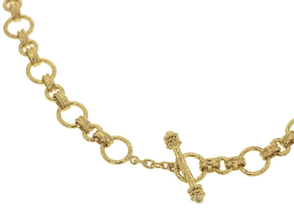 "Elizabeth Locke 17"" ""Bellariva"" Gold Round Link Necklace model shot #2"