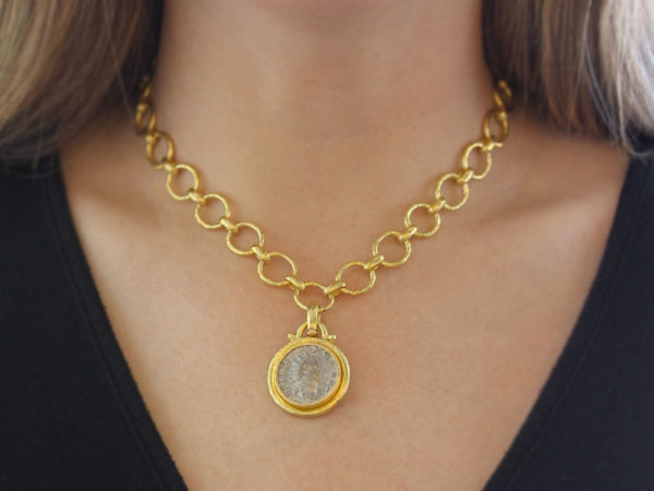 Elizabeth Locke Ancient Roman Silver Coin Pendant