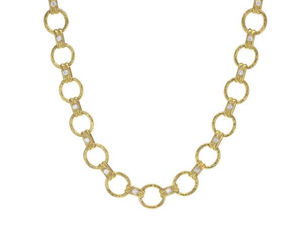 "Elizabeth Locke 17"" Diamond ""Rimini"" Link Necklace with Diamond-Tipped Toggle & Ring Closure thumbnail"