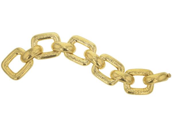 """Elizabeth Locke Large """"Livorno"""" Rectangular Link Bracelet model shot #2"""