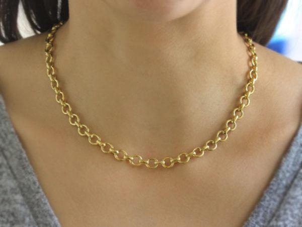 "Elizabeth Locke 17"" ""Perugia"" Link Necklace"