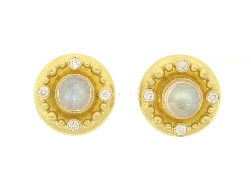 Elizabeth Locke Moonstone Cabochon Clip/Post Earrings 2Srs9HT6HR